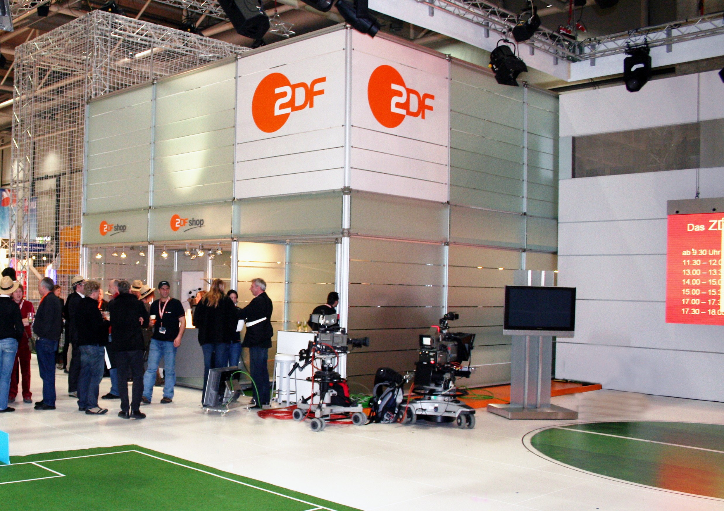 Messestand ZDF zur Cebit